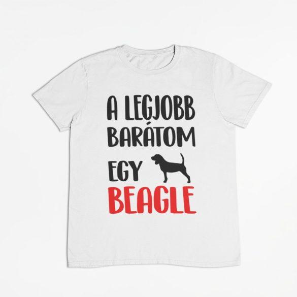 A legjobb barátom egy beagle férfi póló