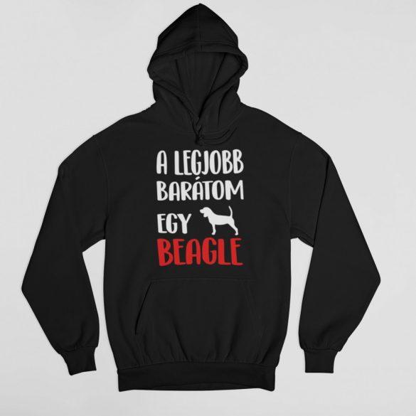 A legjobb barátom egy beagle férfi pulóver
