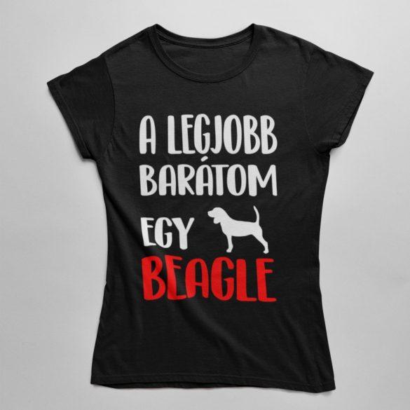 A legjobb barátom egy beagle női póló