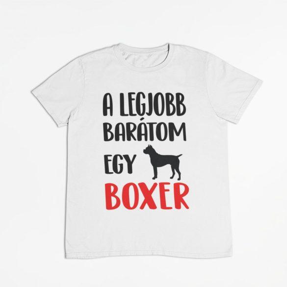 A legjobb barátom egy boxer férfi póló