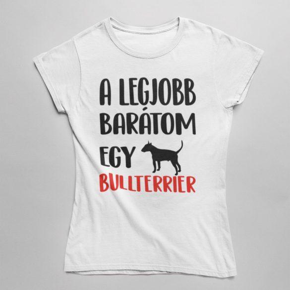 A legjobb barátom egy bullterrier női póló