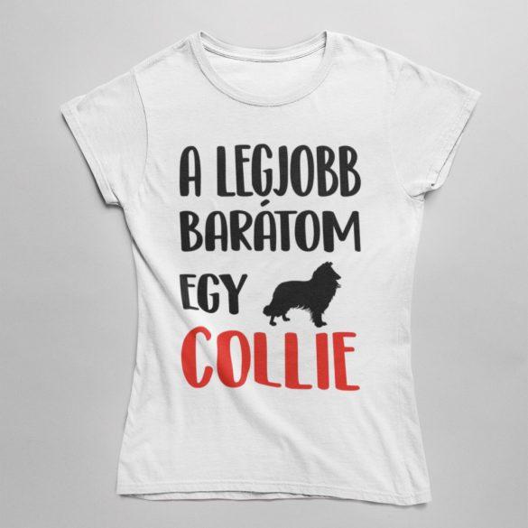 A legjobb barátom egy collie női póló