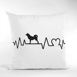 Akita heartbeat párna