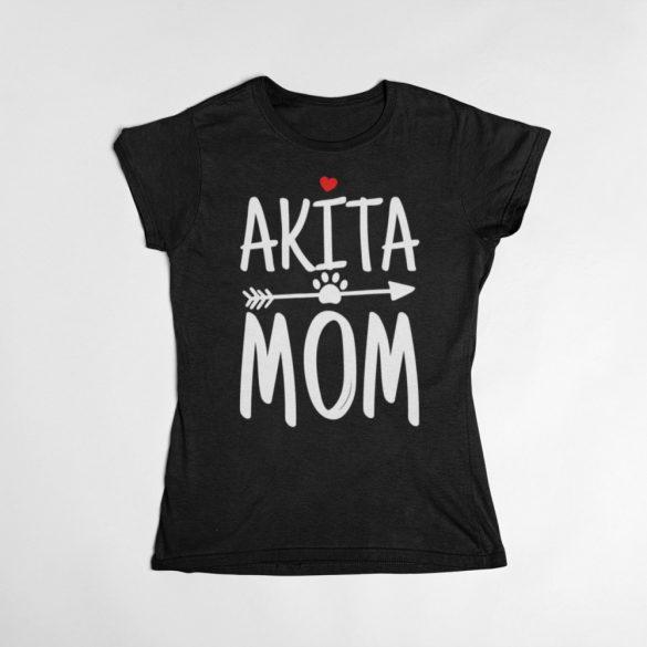 Akita mom női póló