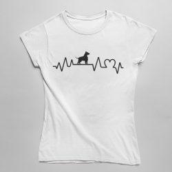 Amstaff heartbeat női póló