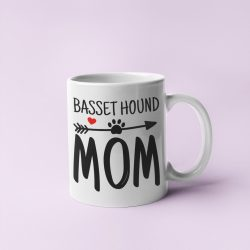 Basset hound mom bögre