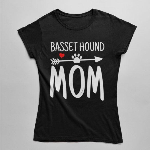 Basset hound mom női póló