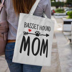 Basset hound mom vászontáska
