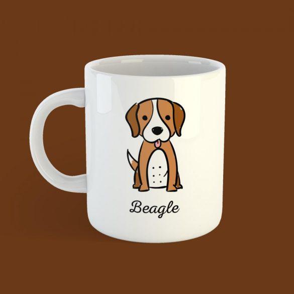 Beagle Rajzolt Bögre