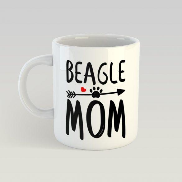 Beagle mom tappanccsal bögre