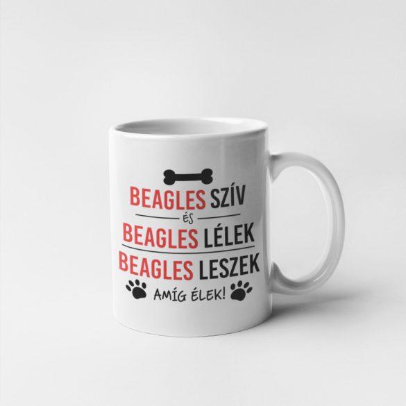 Beagles szív és beagles lélek bögre
