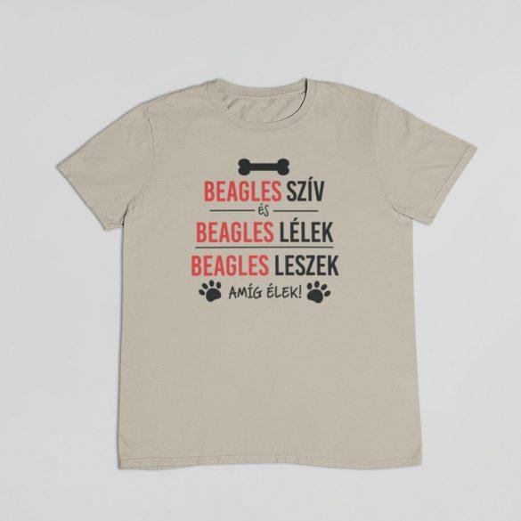 Beagles szív és beagles lélek férfi póló