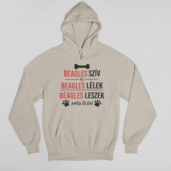 Beagles szív és beagles lélek pulóver