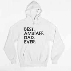 Best amstaff dad ever férfi pulóver