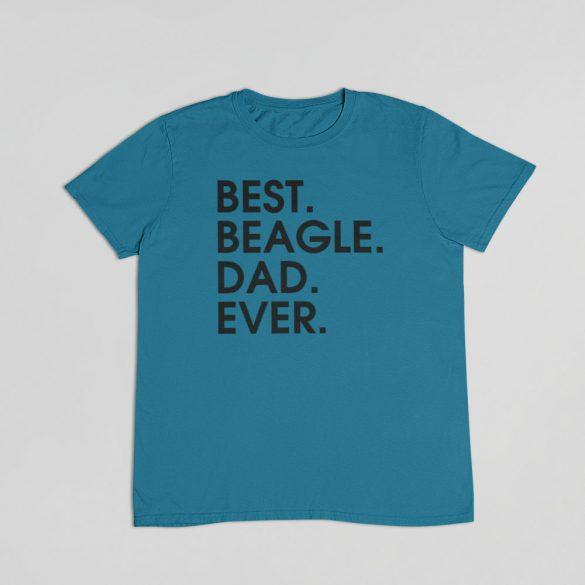 Best beagle dad ever férfi póló