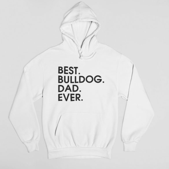 Best bulldog dad ever férfi pulóver