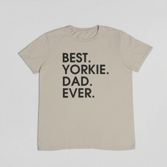 Best yorkie dad ever férfi póló