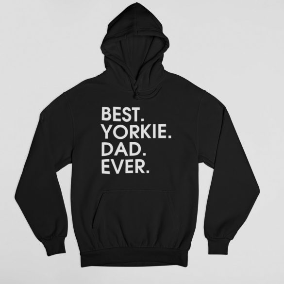 Best yorkie dad ever férfi pulóver