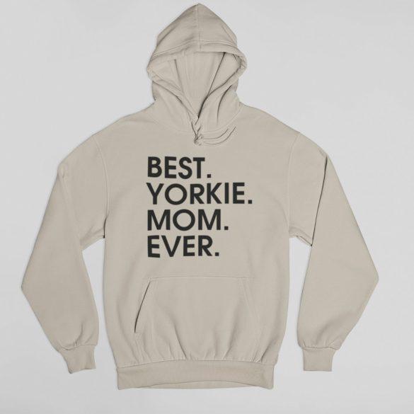 Best yorkie mom női pulóver