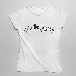 Bichon heartbeat női póló