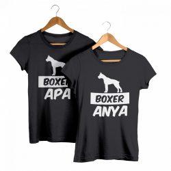 Boxer páros póló (Boxer anya & Boxer apa)
