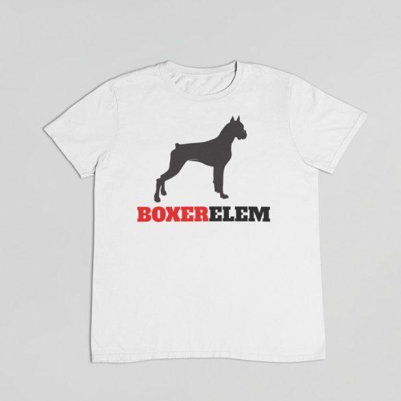 Boxerelem férfi póló