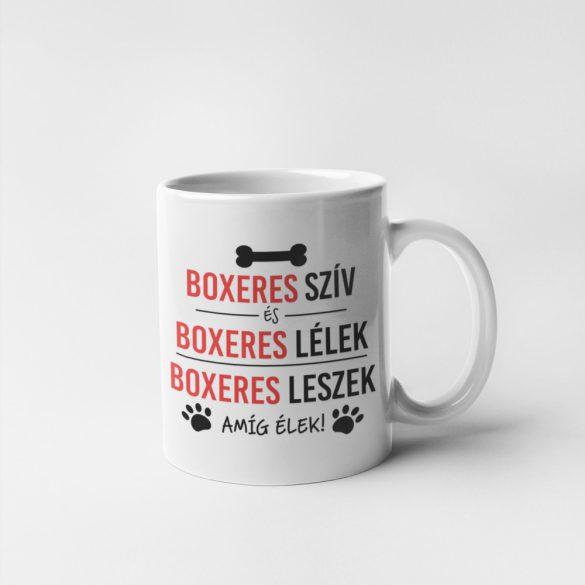Boxeres szív és boxeres lélek bögre