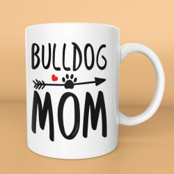 Bulldog mom with paw bögre