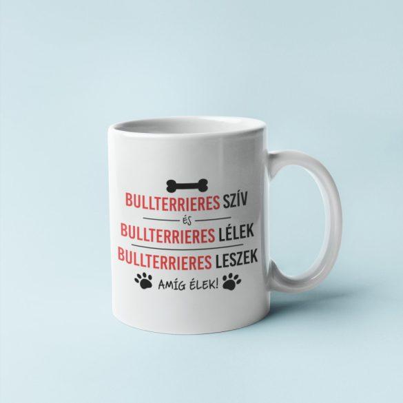 Bullterrieres szív és bullterrieres lélek bögre