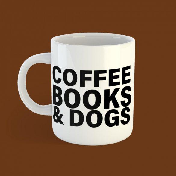 Coffee Books & Dogs Női Bögre