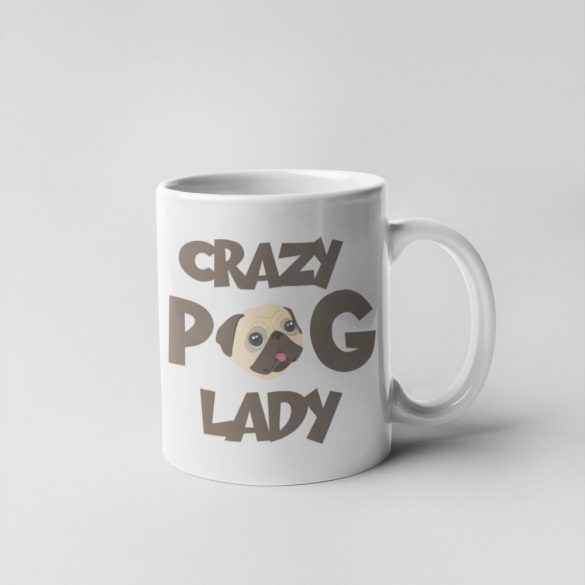 Crazy Pug Lady Bögre