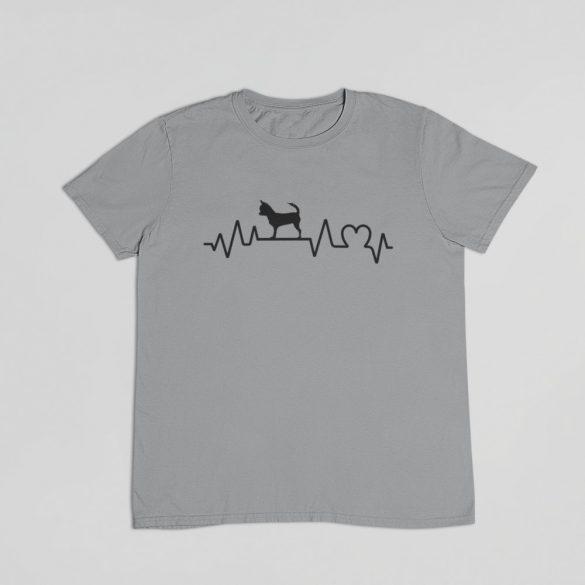 Csivava heartbeat férfi póló
