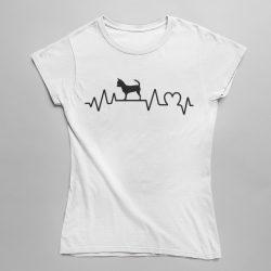 Csivava heartbeat női póló