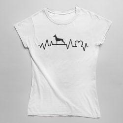 Dobermann heartbeat női póló