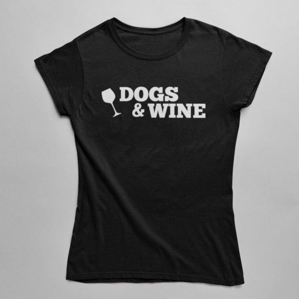 Dogs&Wine (v2) női póló