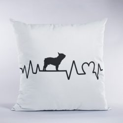 Francia bulldog heartbeat párna