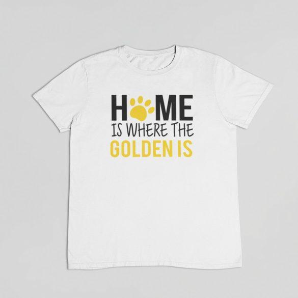 Home is where the golden is férfi póló