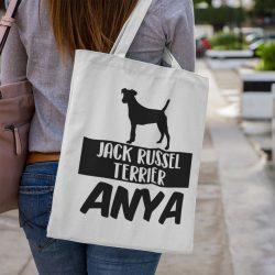 Jack russel terrier anya vászontáska