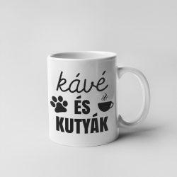 Kávé és kutyák bögre