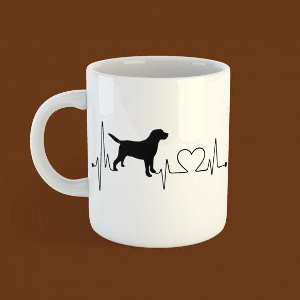 Labrador heartbeat bögre