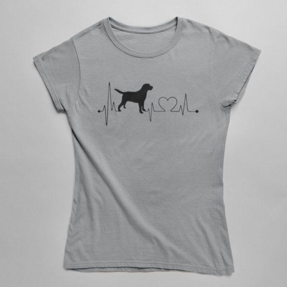 Labrador heartbeat női póló