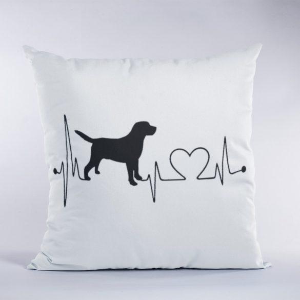 Labrador heartbeat párna