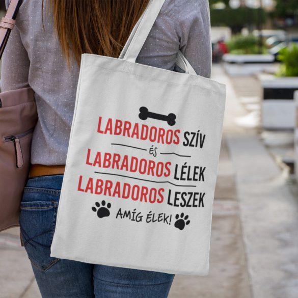 Labradoros szív és labradoros lélek vászontáska