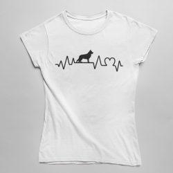 Németjuhász heartbeat női póló