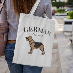 Német juhász vintage Vászontáska