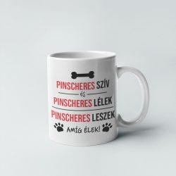 Pinscheres szív és pinscheres lélek bögre