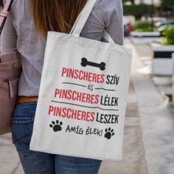 Pinscheres szív és pinscheres lélek vászontáska