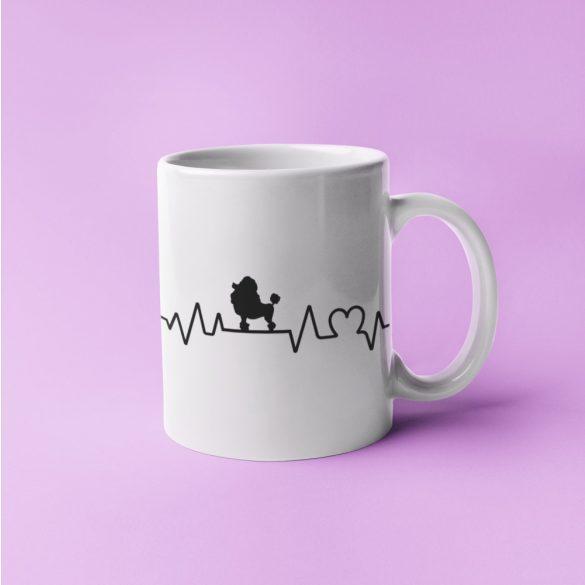 Uszkár/Poodle heartbeat bögre