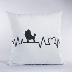 Uszkár/Poodle heartbeat párna