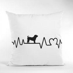 Shar pei heartbeat párna